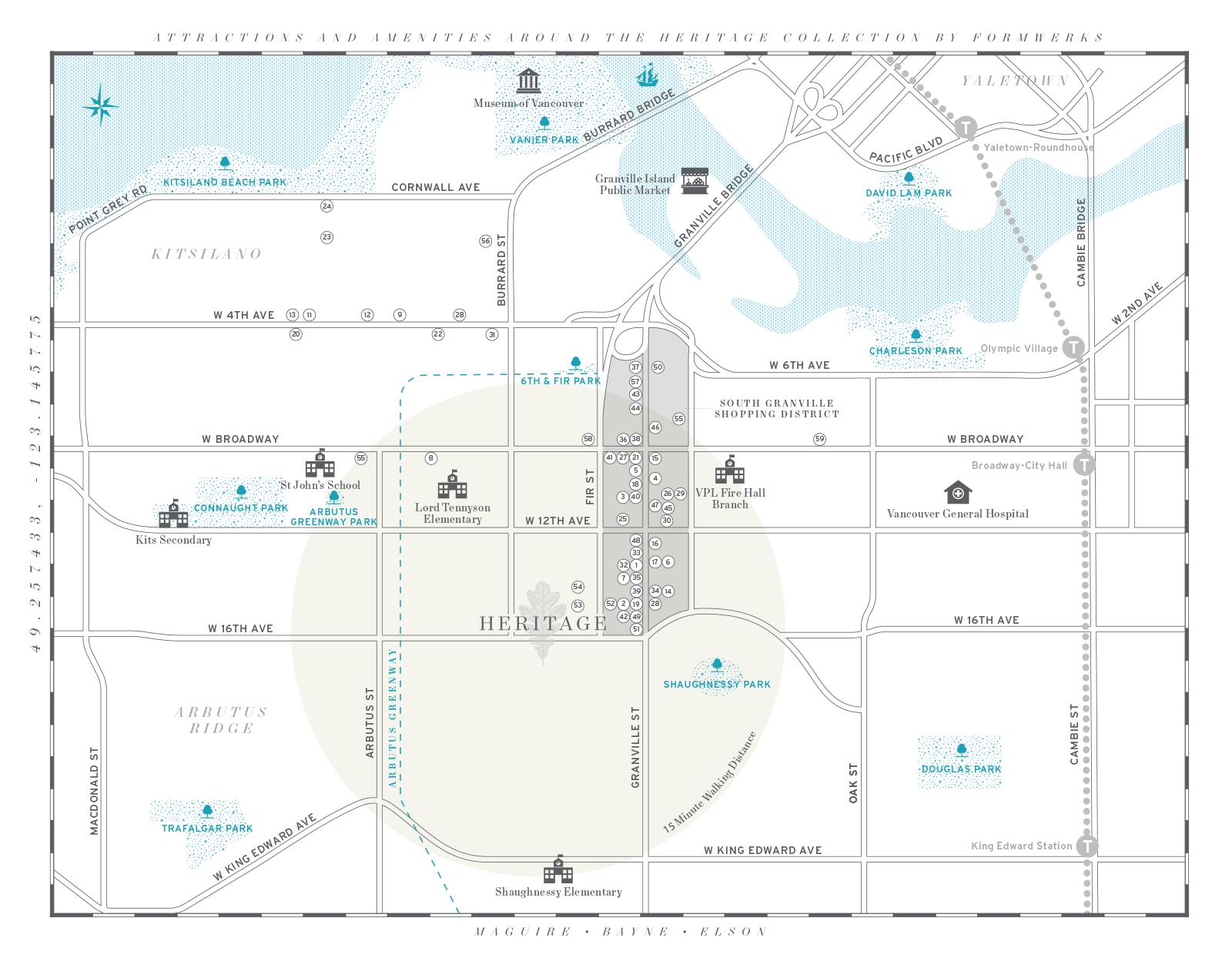 Heritage Location/Amenities Map
